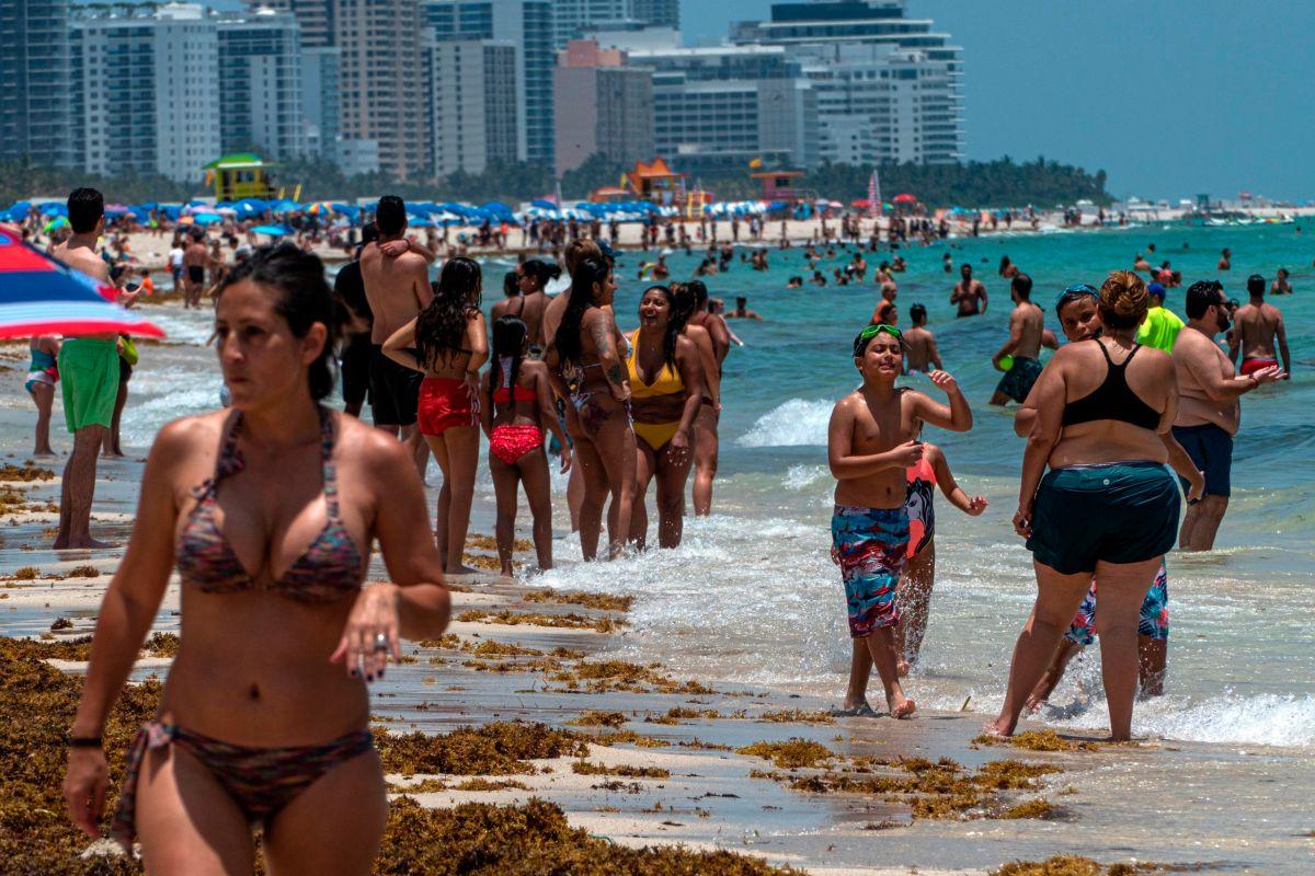 Miami reabrió sus playas en un día donde superó los 20,000 contagios de COVID-19
