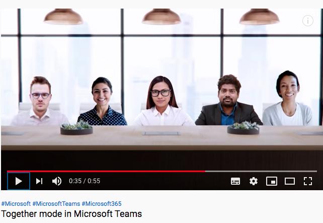 """Microsoft quiere volver a """"sentar"""" a los compañeros de trabajo en una misma sala durante video llamada"""
