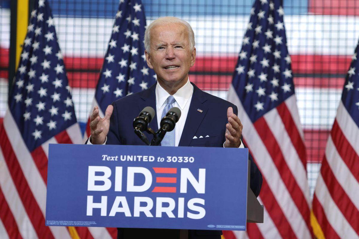 Joe Biden, candidato presidencial demócrata.