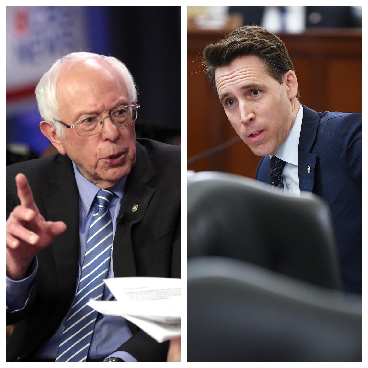 Otrora oponentes, Bernie Sanders y Josh Hawley trabajan juntos para lograr un segundo cheque estímulo: qué se proponen