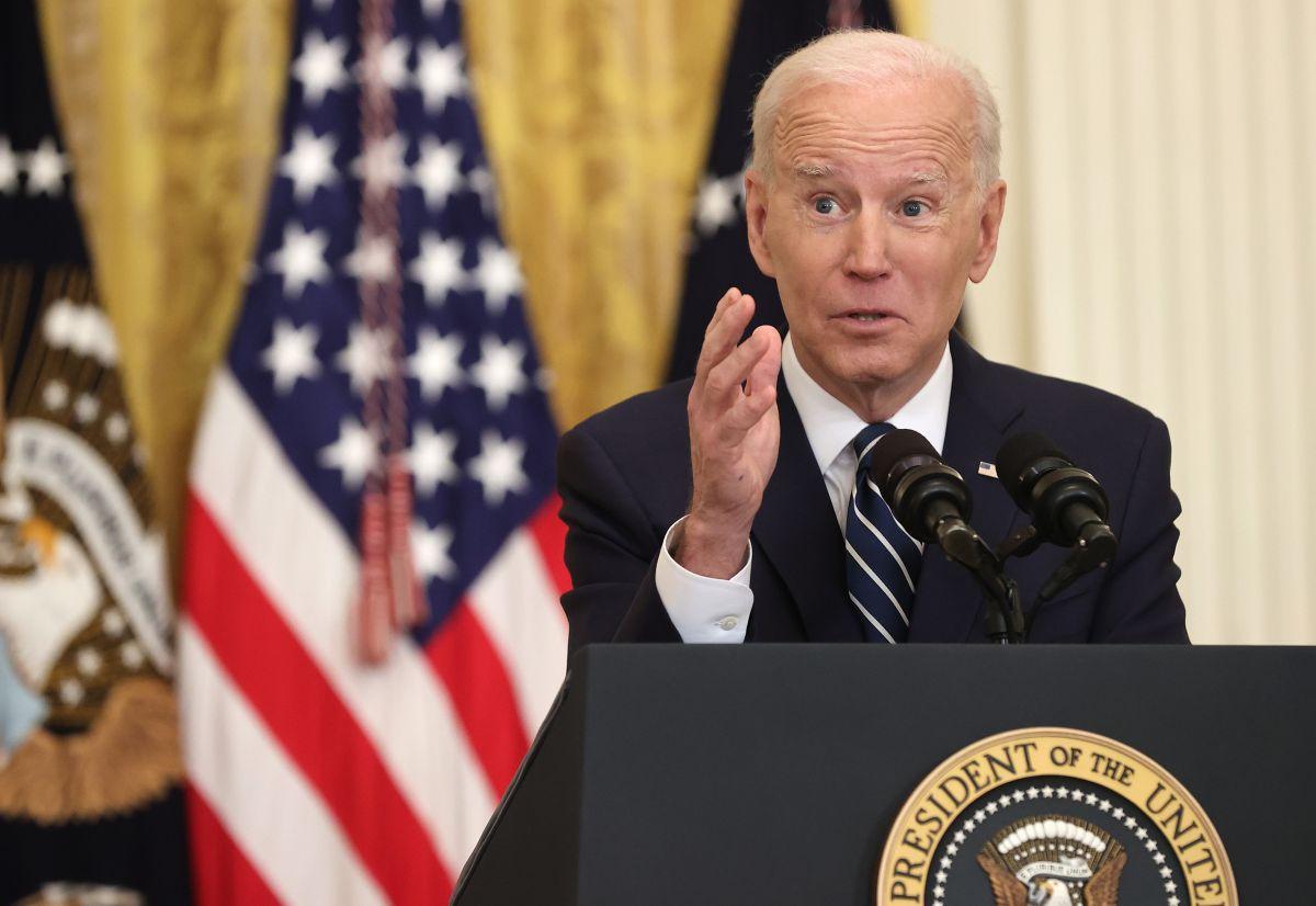Biden volvió a elogiar su paquete de estímulo.