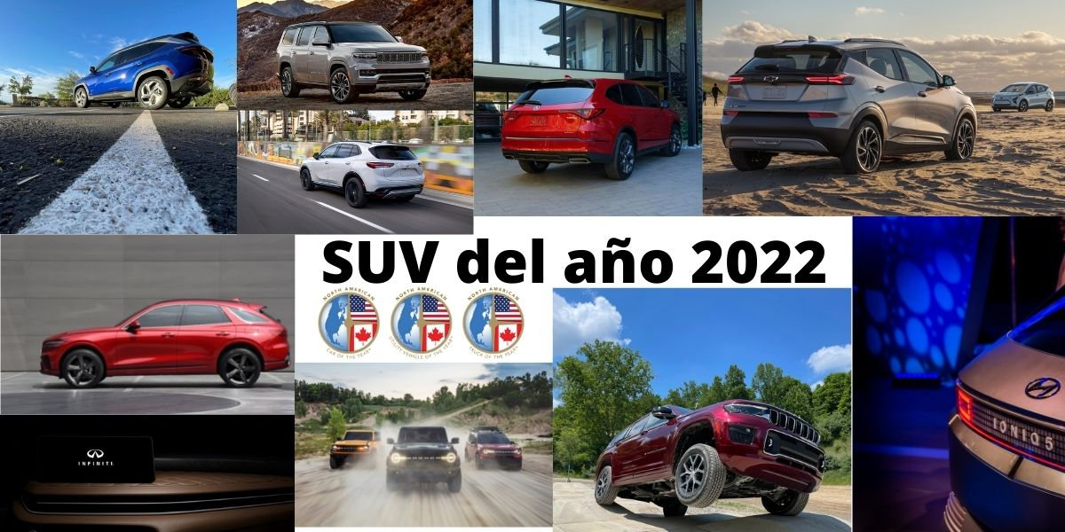 Candidatos al Premio NACTOY al SUV del Año 2022.
