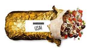 Chipotle celebra los Juegos Olímpicos con burritos con envoltorio dorado