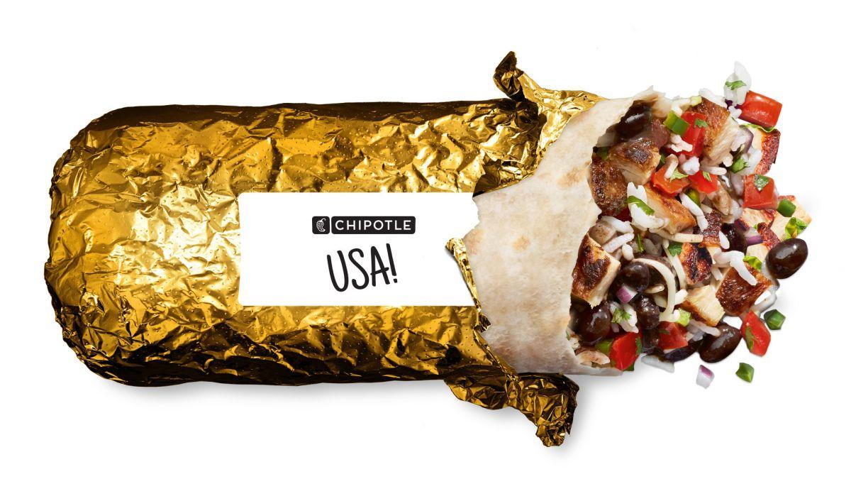 Chipotle promociona su nuevo burrito envuelto con oro para sentir el triunfo olímpico.